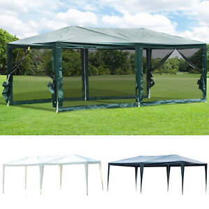 10' x 20' Gazebo Canopy Cover Tent  Patio Party w/ Removable Mesh Side Walls