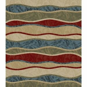 Home Basics Oasis Multi Contemporary Area Rug