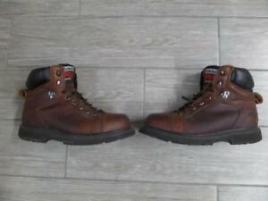 Mens TIMBERLAND Work Boots PRO SERIES Steel Toe 8 M Brown 6quot;