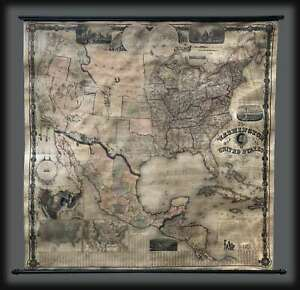 1861 Maury Civil War Wall Map of the United States