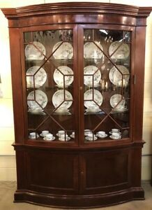 Bow-Front Glass China Cabinet - Baker Historic Charleston Collection