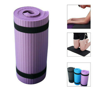 61 x 25cm Non-Slip Yoga Mat 15mm Thick Gym Exercise Fitness Pilates Sports Mat