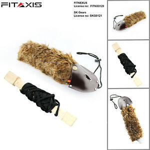 FITAXIS Falconry Rabbit Lure with Creance Hawking Bird Light weight Fur lure New