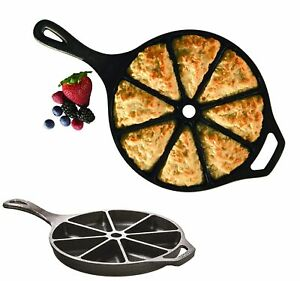 Cast Iron Cornbread Corn Bread Wedge Pan Scone Kitchen Cookware Pre-seasoned 9
