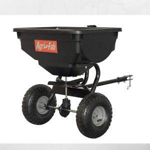 Behind Broadcast Spreader Large Tow Hopper Fertilizer Seed Atv Lawn Tractor Pull