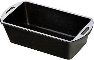 Lodge 10-14 X 5-18 Cast Iron Seasoned Meat Loaf Cake Pan Campfire L4LP3