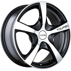 Touren TR9 17x7 4x1004x114.3 (4x4.5) +42mm Machined Black Wheels Rims