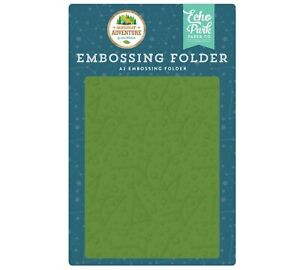 Echo Park Paper SUMMER ADVENTURE Camping A2 Embossing Folder Constellations