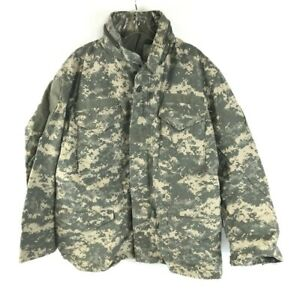 Cold Weather Field Coat Universal Pattern Military Issue Digital ACU Jacket Med