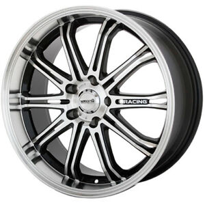 Maxxim Ferris 17x7 4x1004x114.3 (4x4.5) +40mm Machined Black Wheels Rims