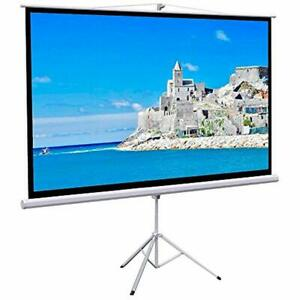 White 100in Diagonal Portable Indoor Outdoor Projector Screen169 Projection