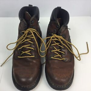 RED WING 926 Brown Leather Electric Hazard Work Boots Soft Toe Men US12