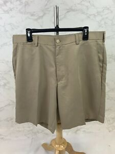 2 Under Mens Khaki Polyester Shorts Size 38 $6.00