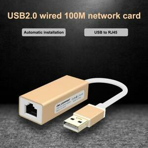 Micro USB2.0 To Fast Ethernet 10100 RJ45 Network LAN Adapter 100Mb Network Card