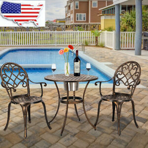Patio Sense Arria Outdoor Bistro Set 3-Piece Cast Aluminum Patio All Weather