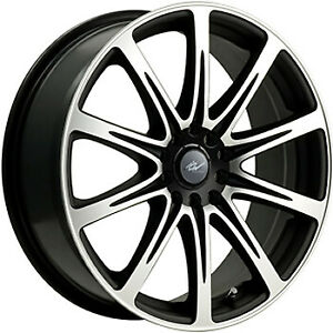 ICW Euro 15x6.5 4x1004x114.3 (4x4.5) +42mm Machined Black Wheels Rims