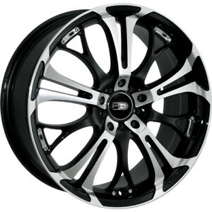 HD Spinout 15x6.5 4x1004x114.3 (4x4.5) +40mm Machined Black Wheels Rims