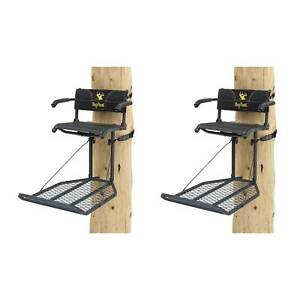 Rivers Edge Big Foot XL Lounger Hang On Portable Hunting Tree Stand 2 Pack
