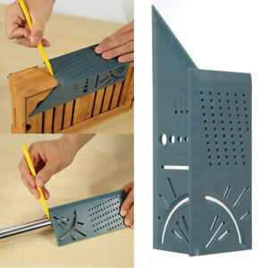 3D Mitre Angle Measuring Square Size Measure Tool wGauge & Ruler Woodworking # $3.49