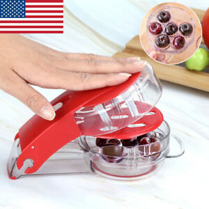 Multi Cherry Pitter Fruit Core Seeds Remover Extractor 6 Holes Capacity Press US