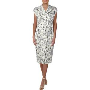 Thom Browne Womens White Lace-Up Double-Breasted Casual Dress 2 BHFO 7111