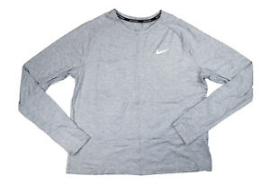 Nike Dry Element Dri-Fit Long Sleeve Top T-Shirt NWT Wolf Grey Large $55 MSRP