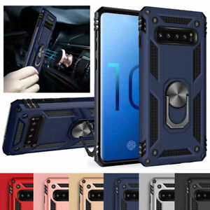 For Samsung Note10 Plus+5G S10 S9 S8 Note 9 8 Magnetic 360 Ring Stand Case Cover