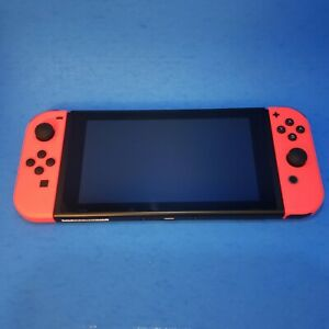 Nintendo Switch Handheld Console Bundle with Red Left and Right Joy Cons!