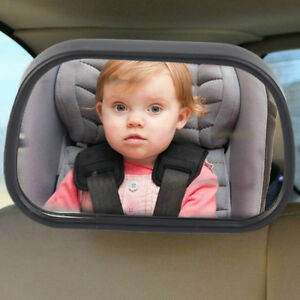 Car Rear Seat View Baby Child Safety Mirror Clip and Sucker Dual Mount WH AL