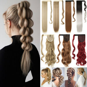 REAL Hair Wrap on Clip In Ponytail Hair Extensions THICK DIY Braid Hot as Human $10.70
