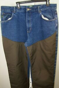 Cabelas Outdoor Gear Mens Heavy Blue Jeans With Brush Guard Size 40 x 34