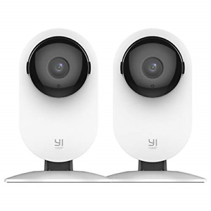 YI 2pc Home Camera 1080p Wireless IP Security Surveillance System with Free on