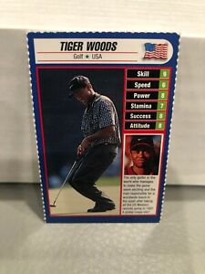 Tiger Woods Sported Magazine Rookie RC Rare Mini Perforated Card