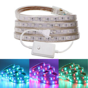 1m-15m 8 Modes 5050 RGB LED Strip Tape Lights Waterproof Commercial Lighting