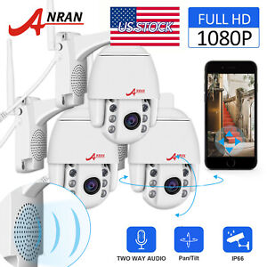 ANRAN PanTilt Wireless CCTV Security Camera Waterproof 2 way Audio 1080P Wifi