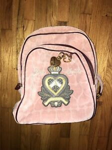 AUTHENTIC NEW NWT JUICY COUTURE VELOUR PINK BACKPACK $40.00