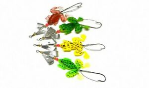 50pcs 6.2g 9cm Rubber Frogs Soft Fishing Lures Bait Bass Tackle [SN-53]