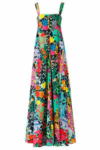Emanuel Ungaro Women 12 (IT 48) Abstract Square Neck Maxi Dress $2200- #087