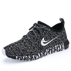 Mens Casual  Shoes Sneakers Breatable Running Shoes Lace Up Black Size 12