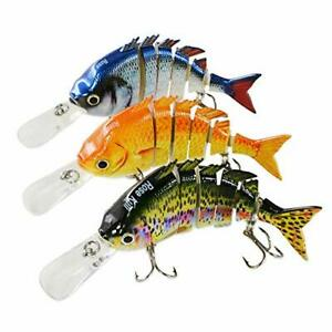Fishing Lures for Bass Multi Jointed Hard Lifelike Fishing Bait Tackle Kits
