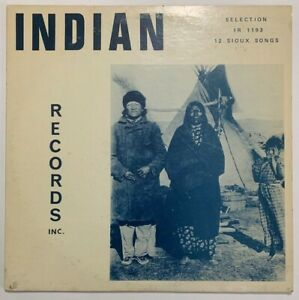 RARE Sioux Songs LP Native American Indian Records Private 1891 Pine Ridge SD EX