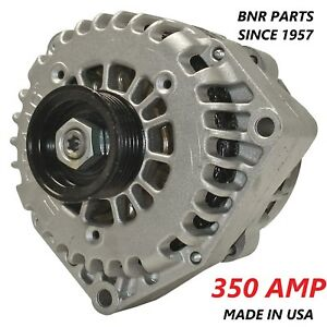 350 AMP Alternator High Output Chevy GMC Cadillac NEW HD 2 PIN 2014 +