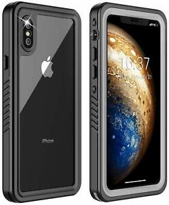 Shockproof Dirt Proof Life Waterproof Case For iPhone X XS With Screen Protector
