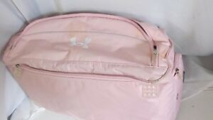 Used Under Armour Huge Duffle  Bag PinkWhite Size Bag XL