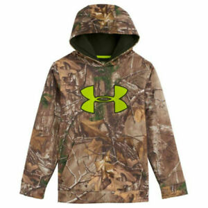 Under Armour Youth Camo Scent Control ArmourFleece Hoodie Realtree Xtra Medium $44.99