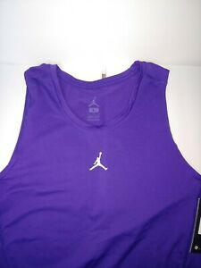 Nike Mens Dri-Fit  Training Tank Michael Jordan Top Shirt Purple   S Brand New