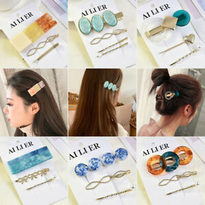 3Pcs/Set Women Geometry Rectangle Round Hairpin Hair Clip Hair Accessories