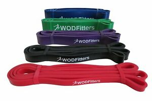 WODFitters Pull Up Assistance Bands - Stretch Resistance Band - Mobility -...