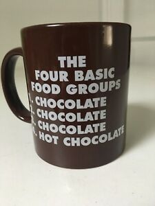 Used Hershey#x27;s 4 Basic Food Groups Mug Great gift idea for a chocolate lover