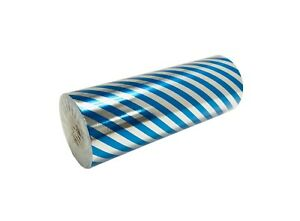 Jewelry 7.5quot; x 150 ft Blue Stripe Silver Foil Gift Wrapping Paper All Occasions